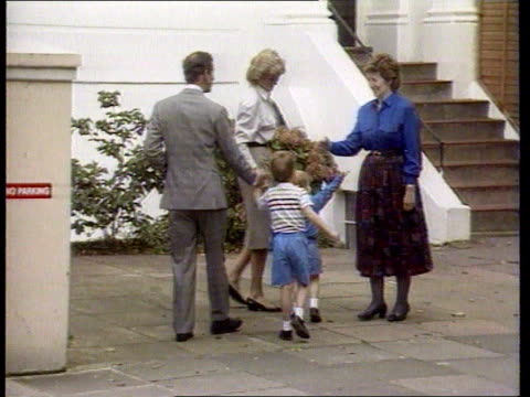 Diana Princess of Wales Collection T16098709 London Notting Hill Diana along with Prince Charles and Prince William as they bring Prince Harry to...