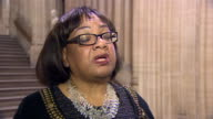Diane Abbott saying 'I am a loyal member of the Shadow Cabinet and a loyal supporter of Jeremy Corbyn so I have now voted to trigger Article 50'