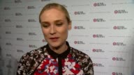 INTERVIEW Diane Kruger on what brings her out tonight On what she's looking forward to in the Peter Pilotto collection On her look for tonight Says...