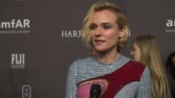 INTERVIEW Diane Kruger talks about the threat of AIDS/HIV at 19th Annual amfAR New York Gala at Cipriani Wall Street on February 08 2017 in New York...