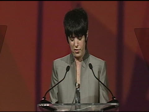 Diane Warren accepting award at the 22nd Annual Palm Springs International Film Festival Awards Gala at Palm Springs CA