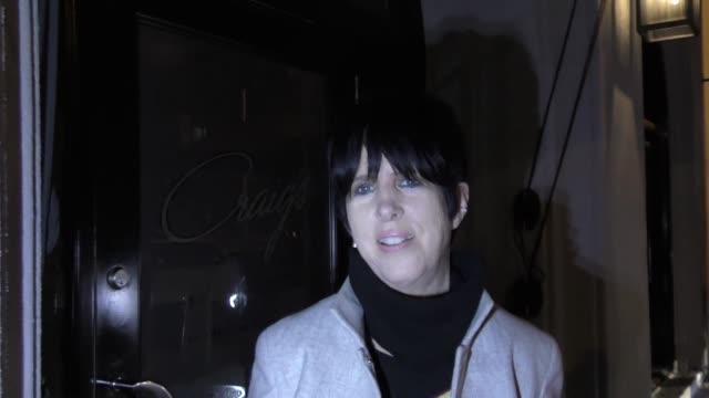 Diane Warren arrives at Craigs in West Hollywood in Celebrity Sightings in Los Angeles