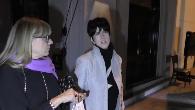 Diane Warren leaves Craigs in West Hollywood in Celebrity Sightings in Los Angeles