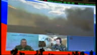 Dictatorship of Alexander Lukashenko Via Reuters RTV080514055 8 52014 Moscow INT President Putin and Lukashenko watching rocket launch on giant screen