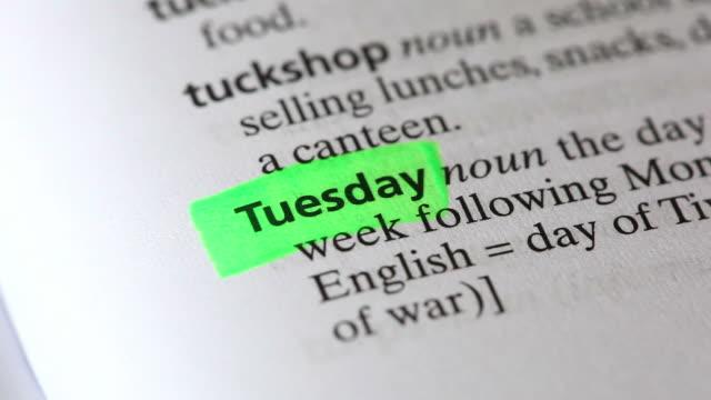 Parole del dizionario giorni della settimana (Full HD)