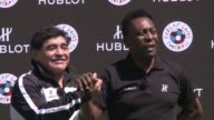 Diego Maradona and his old rival Pele were reunited for a match of friendship in Paris on Thursday on the eve of the European championship kick off