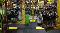 Diesel truck engines are manufactured at the Cummins Inc Mid Range Engine Plant in Columbus Indiana US Once manufactured the engines are installed in...
