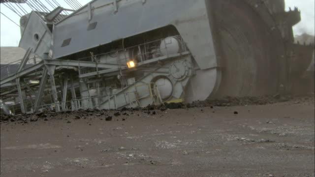 CU Digger wheel picking up ore, Loy Yang Power Plant, Victoria, Australia