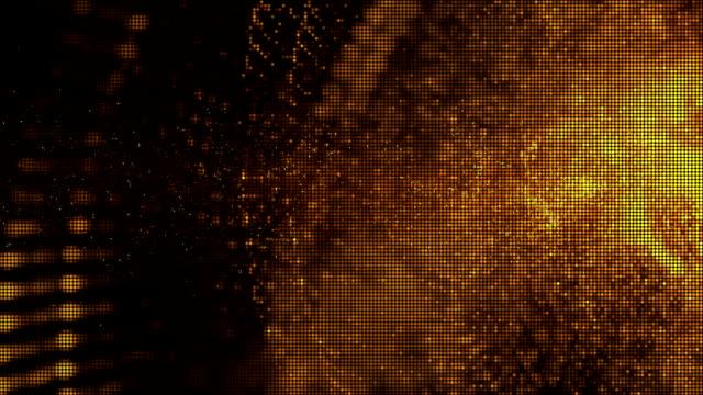 Digitala abstrakt guldpartiklar bakgrund