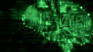 Digital Brain Background green