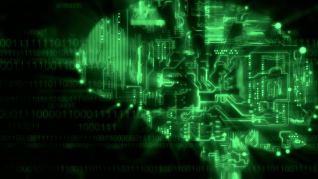 Digitale hersenen achtergrond groen