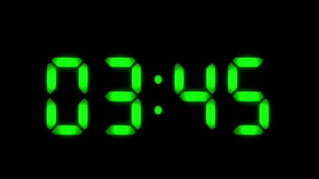 Digital Clock 1 Frame Per Minute Loopable Green Stock Footage ...