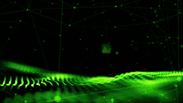 digital cyber space futuristic background,green color