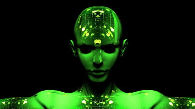 Digital Cyborg Woman