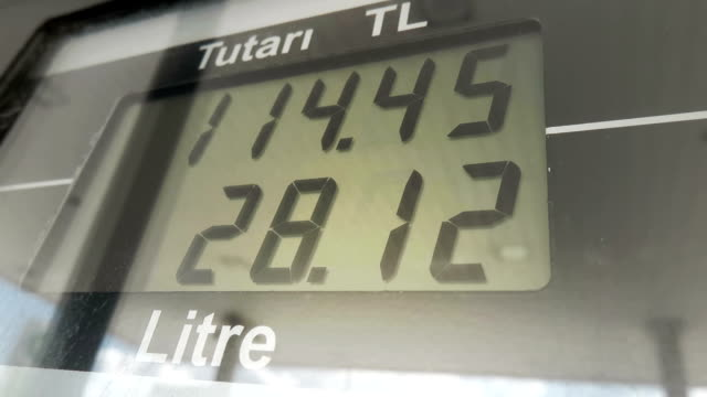 Digital Display of a Fuel Pump in Gas Station