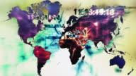 Digitalen Welt Karte mit Raster