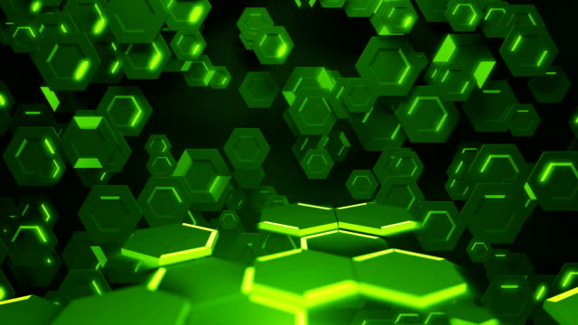 Digital hexagon abstract background