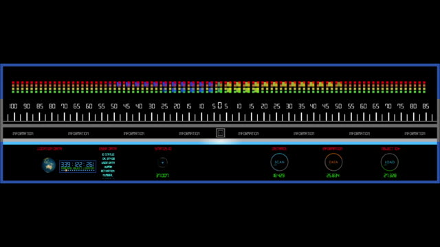 Digital HUD equalizer element