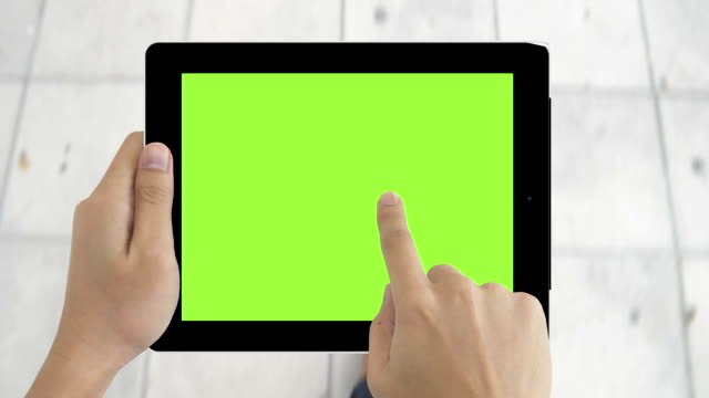 Digital tablet green screen to show your idea