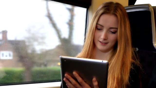 tablet PC auf den Zug.