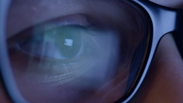 CU Digital tablet reflected in glasses