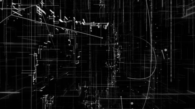 digital technology background,4K,black and white
