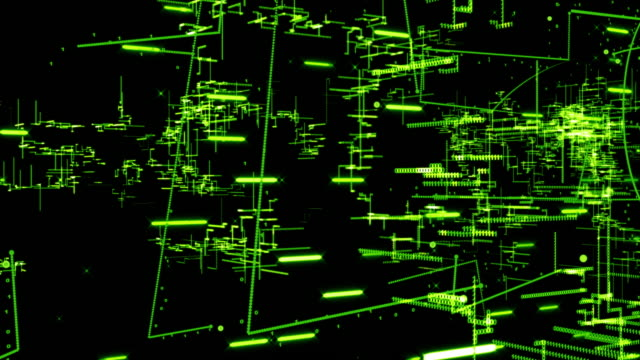 Digital Technology Concept,green color