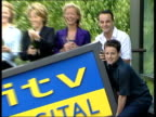 ITV digital to end transmission of pay tv channels LIB London DAY ITV celebrities Ant and Dec Mary Nightingale Gaby Yorath and Tracie Shaw posing...