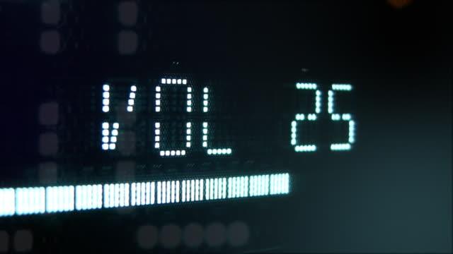 Digital display blinkt die Lautstärke radio