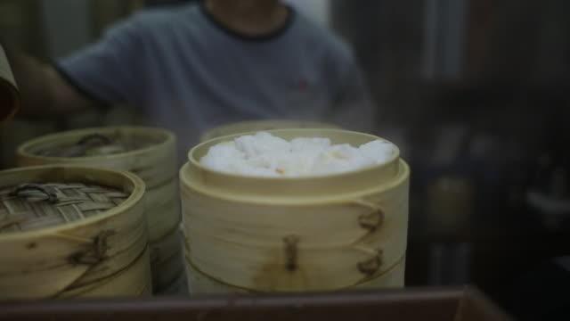 Dim sum seller in Singapore