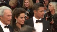 Dina Eastwood Clint Eastwood Angelina Jolie and Brad Pitt at the Cannes steps and exits for 'Changeling' in Cannes on May 20 2008