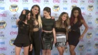 Dinah Jane Hansen Lauren Jauregui Normani Hamilton Ally Brooke and Camila Cabello of Fifth Harmony at the Teen Choice Awards 2014 at The Shrine...