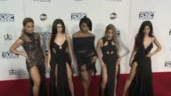 Dinah Jane Hansen Lauren Jauregui Normani Hamilton Ally Brooke and Camila Cabello at 2016 American Music Awards at Microsoft Theater on November 20...
