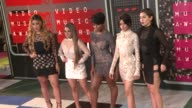 DinahJane Hansen Ally Brooke Normani Hamilton Camila Cabello and Lauren Jauregui of Fifth Harmony at the 2015 MTV Video Music Awards at Microsoft...