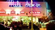 MS T/L Dinner restaurant at night / Los Angeles, California, United States