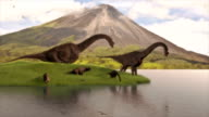 dinosaurs drinking water