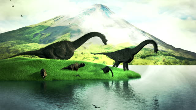 Dinosauri scena
