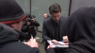 Diogo Morgado walking into the Today show in Rockefeller Center stops to sign for poses with fans in Celebrity Sightings in New York