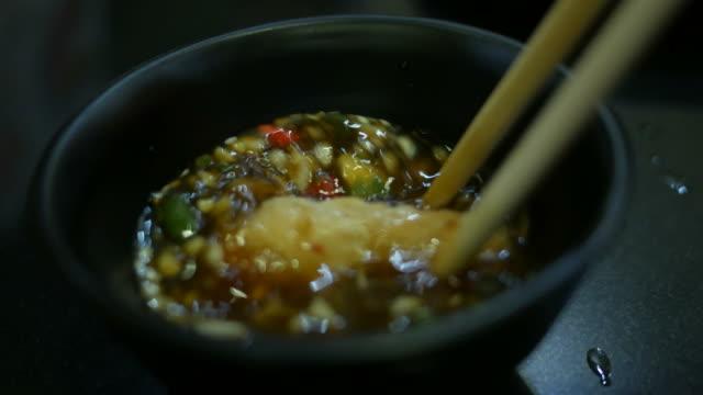 Dippen Fleisch in Sojasauce, koreanisches Essen