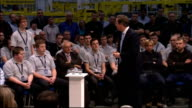 PM Direct at Airbus factory Cameron question and answer session SOT