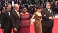 Director Guillermo del Toro Richard Jenkins Octavia Spencer Sally Hawkins Alexandre Desplat and more on the red carpet for the Premiere of The Shape...