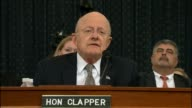 Director of National Intelligence James Clapper begins a prepared statement before the House Select Committee on Intelligence by noting he had the...