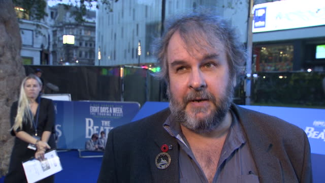 Director Peter Jackson praising The Beatles music and saying 'they will still be listened to in 100 years' at the premiere of 'Eight Days a Week'