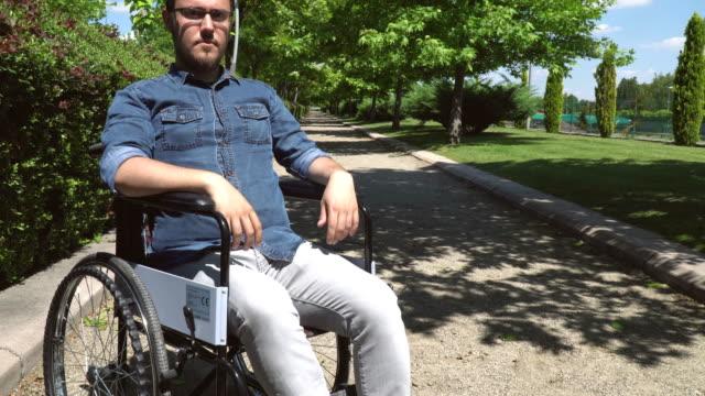 Disabled Man Looking At Camera
