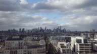 Discovering Australia: Aerial view of Melbourne skyline from the south side