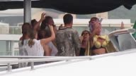 Disegners Stefano Gabbana and Domenico Dolce celebrate a party on a yacht