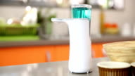Dishwasher soap dispenser.