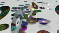 WS SLO/ MO DVD disks tossing on  flat surface