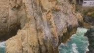 Diver in La Quebrada
