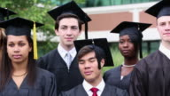 MS DS Diverse Group of High School Graduates in Caps and Gowns / Richmond, Virginia, United States